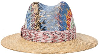 Missoni Mare Chevron-knit straw hat