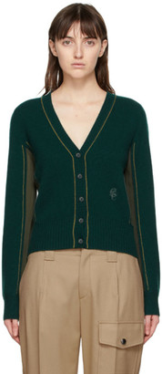 Chloé Green Cashmere and Silk Cardigan