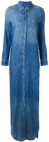 Equipment stonewashed denim dress - women - Cotton - S