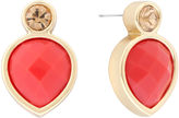 Liz Claiborne Button Post Coral & Gold-Tone Earrings