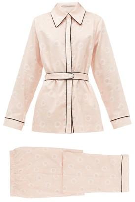 Emilia Wickstead Bianca Striped Cotton-poplin Pyjamas - Womens - Pink