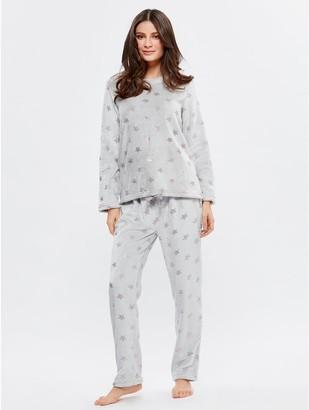 M&Co Star fleece pyjama set