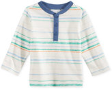 First Impressions Striped Henley T-Shirt, Baby Boys (0-24 months), Only at Macy's