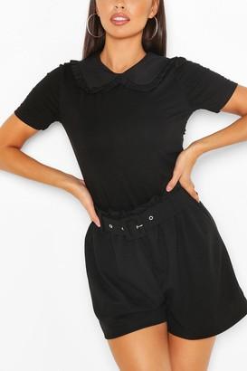 boohoo Cotton Collar Button Detail T-Shirt