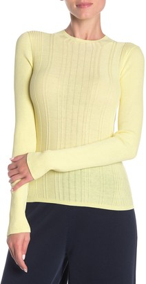 Vince Variegated Rib Knit Long Sleeve Top