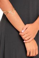 LuLu*s Vogue Gold Cuff Bracelet