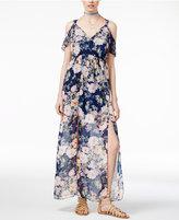Trixxi Juniors' Cold-Shoulder Maxi Dress
