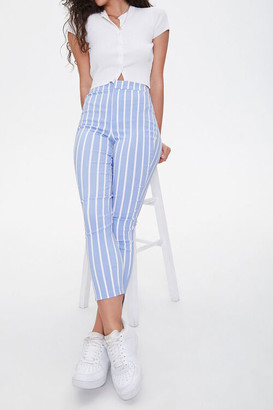 Forever 21 Vertical Striped Ankle Pants