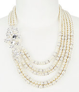 Cezanne Rhinestone & Faux-Pearl Multi-Strand Statement Necklace