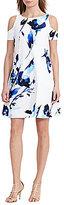 Lauren Ralph Lauren Cold-Shoulder Floral Trapeze Dress