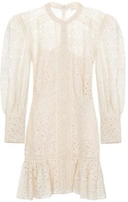 Veronica Beard Hilda cotton-blend lace minidress