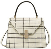 Valextra Iside Grid Leather Top-Handle Bag, Multi