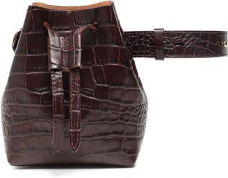 Nanushka Minee Croc-effect Vegan Leather Belt Bag