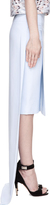 Givenchy Baby Blue Cady Tubino Layered Train Skirt