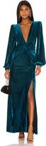 PatBO Velvet Long Sleeve Gown