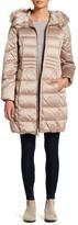 Eliza J Faux Fur Hood Down Padded Jacket