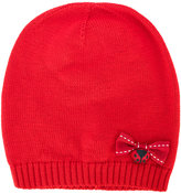 Dolce & Gabbana bow applique beanie - kids - Virgin Wool - 48 cm