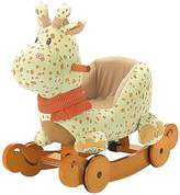 Labebe Child Rocking Horse Plush, Stuffed Animal Rocker Toy, 2 in 1 Rocker with wheel for Kid 6-36 Months, Rocking Toy/Wooden Rocking Horse/Rocker/Animal Ride/Deer Rocker for Boy&Girl
