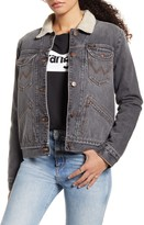 Wrangler ICONS(TM) 124WJ Faux Shearling Lined Denim Jacket