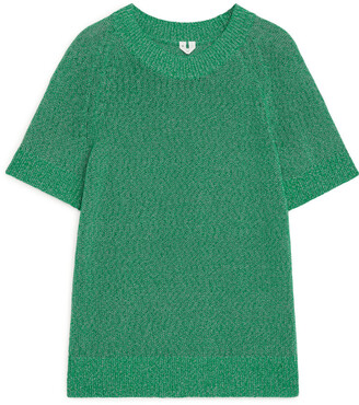 Arket Knitted Short-Sleeved Top
