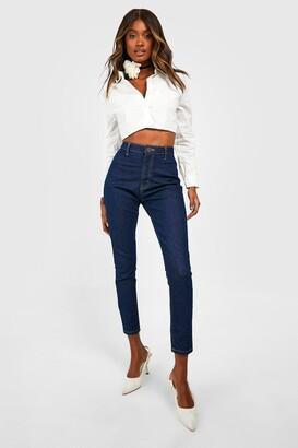 boohoo High Rise Disco Jeans