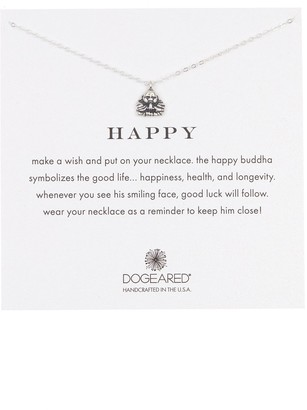 Dogeared Sterling Silver Happy Buddha Pendant Necklace