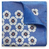 Eton of Sweden Large Flower Linen Silk Pocket Square