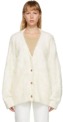Totême SSENSE Exclusive White Alpaca Biella Cardigan