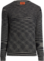 Missoni Crew-neck long-sleeved wool sweater