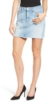 Good American Women's The Mini High Waist Denim Miniskirt