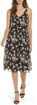 Soprano Women's Floral Blouson Midi Dress
