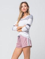 Socialite Knit Striped Womens Shorts