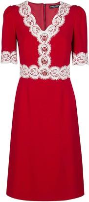 Dolce & Gabbana Lace Detail Midi Dress