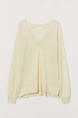 H&M V-neck Sweater - Yellow