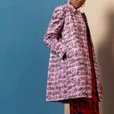 River Island Womens Pink Design Forum eye print coat
