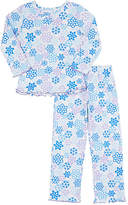 Sara's Prints SNOWFLAKE-PRINT COTTON-BLEND PAJAMA SET