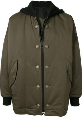 Yohji Yamamoto oversized hooded jacket