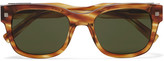 Ermenegildo Zegna Square-frame Tortoiseshell Acetate Sunglasses - Tan