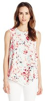Ivanka Trump Women's Printed Sleeveless Woven