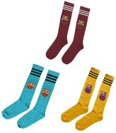 Soccer Authority Barcelona Kids Youth Soccer Team Socks Gift Set Bundle 3 PAIRS