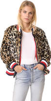 Tommy Hilfiger Leopard Faux Fur Short Jacket