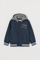 H&M Hooded Baseball Jacket - Blue