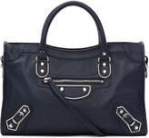 Balenciaga Blue Metallic Edge City S Bag