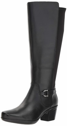 Clarks Women's Emslie March Wide Calf Fashion Boot