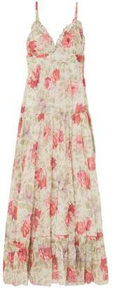 Paul & Joe Ruffle-trimmed Floral-print Cotton-gauze Maxi Dress