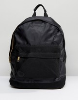 Mi-Pac Satin Mesh Black Backpack