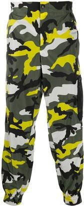 Valentino Camouflage Print Track Pants