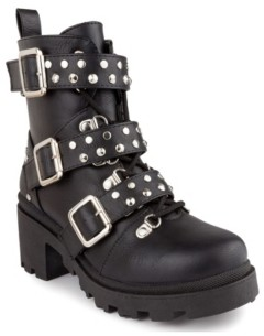 Sugar Women's Flair Buckle Strap Moto Booties Women's Shoes