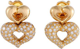 Van Cleef & Arpels Heritage  18K 1.75 Ct. Tw. Diamond Stacked Hearts Earrings