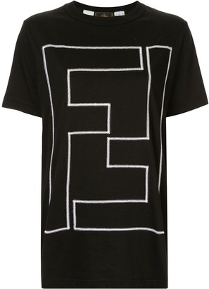 Fendi Pre Owned embroidered FF logo T-shirt